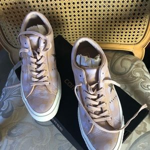 Pink camo sneakers